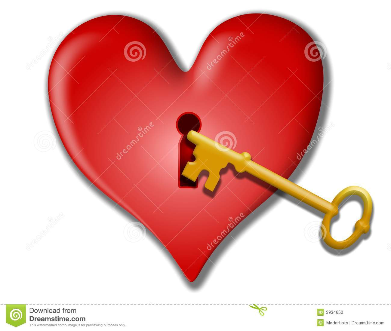 Key To My Heart Valentine Clip Art Stock Photo   Image  3934650