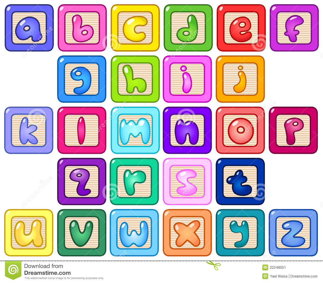 Lower Case Alphabet Blocks Stock Image   Image  22248051