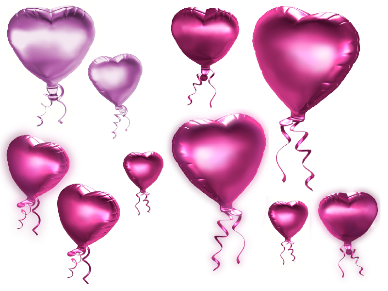Pink And Purple Heart Balloons Png Clipart   Holy Cathedral Church Of