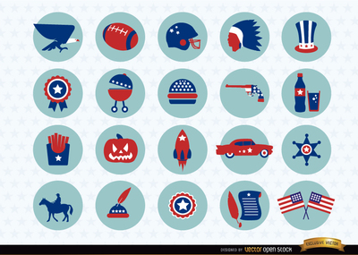 Report Browse   Food   Drink   Usa National Symbols Icons Pack