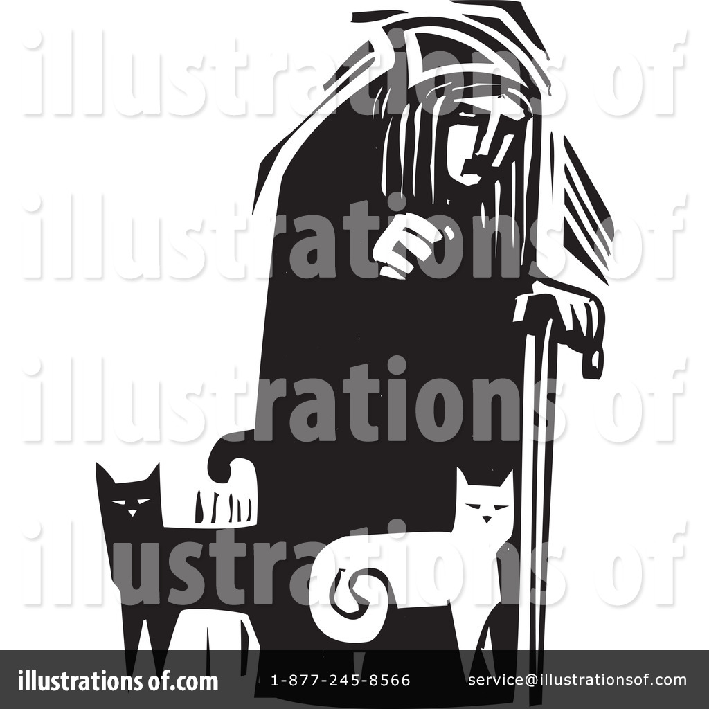 Royalty Free  Rf  Cat Lady Clipart Illustration By Xunantunich   Stock