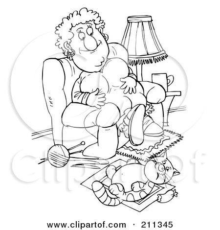 Royalty Free  Rf  Clipart Illustration Of A Coloring Page Outline Of A