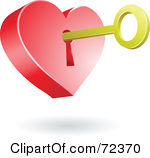 Royalty Free  Rf  Key To My Heart Clipart Illustrations Vector