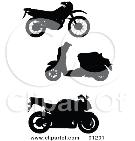 Royalty Free  Rf  Motorcycle Silhouette Clipart Illustrations Vector