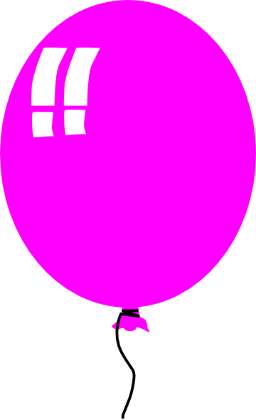 Single Pink Balloon   Free Images At Clker Com   Vector Clip Art