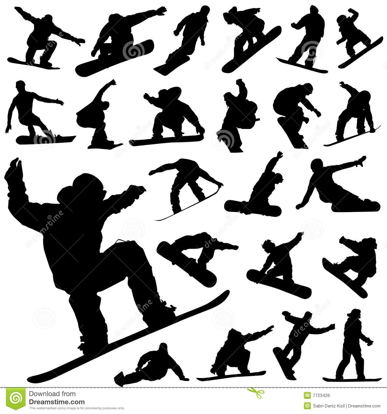 Snowboard Set Vector Royalty Free Stock Image   Image  7723426