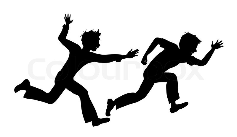 Clip Art Boy Running Sillouette Clipart - Clipart Suggest