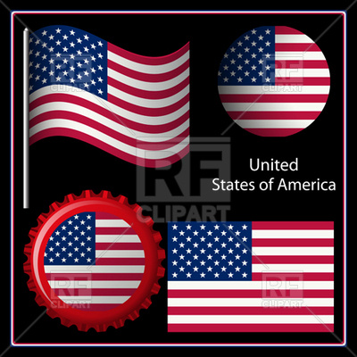 Usa Flag Decorations Signs Symbols Maps Download Royalty Free