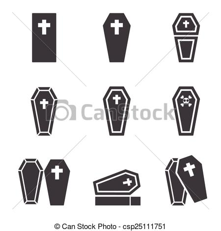 Vector   Casket Icon   Stock Illustration Royalty Free Illustrations