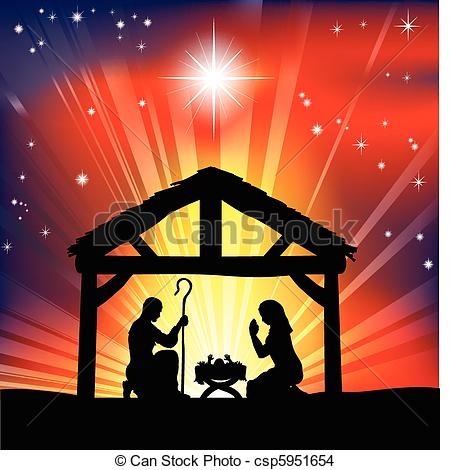 Nativity Scene Clipart - Clipart Kid