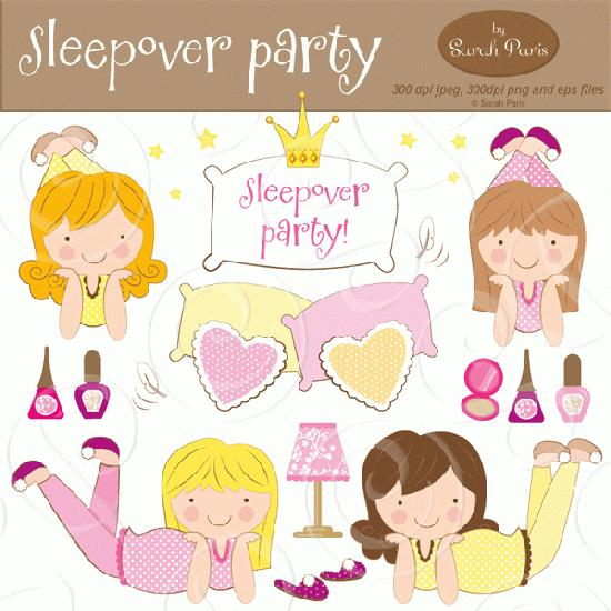 Mygrafico  Sleepover Party Clipart