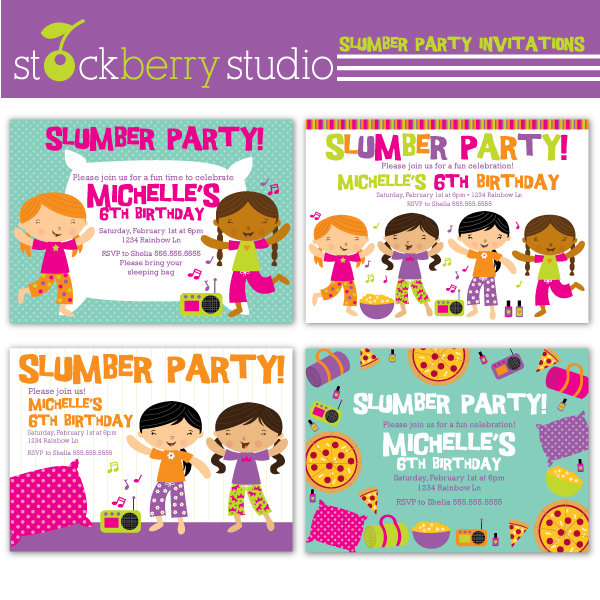 New  Sleepover Slumber Party Invitations I Recently Created Now