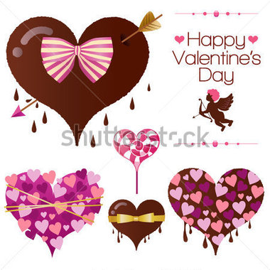 Set Of Heart Candy For Valentine S Day For Valentine S Day Vector