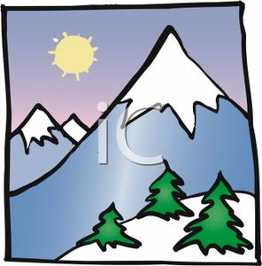 Snowy Mountain Clipart