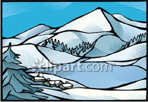 Snowy Mountain Clipart Mountain