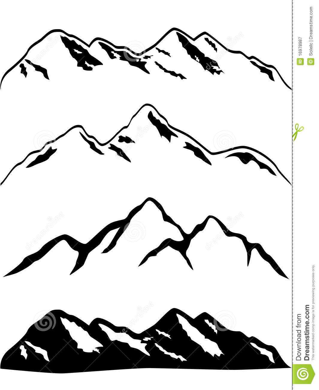 Snowy Mountain Peaks Royalty Free Stock Photography   Image  16978987