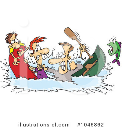 Canoe Clipart  1046862   Illustration By Ron Leishman