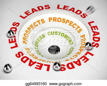 Conversion Funnel   Leads To Sales  Clipart Illustrations Gg64993160