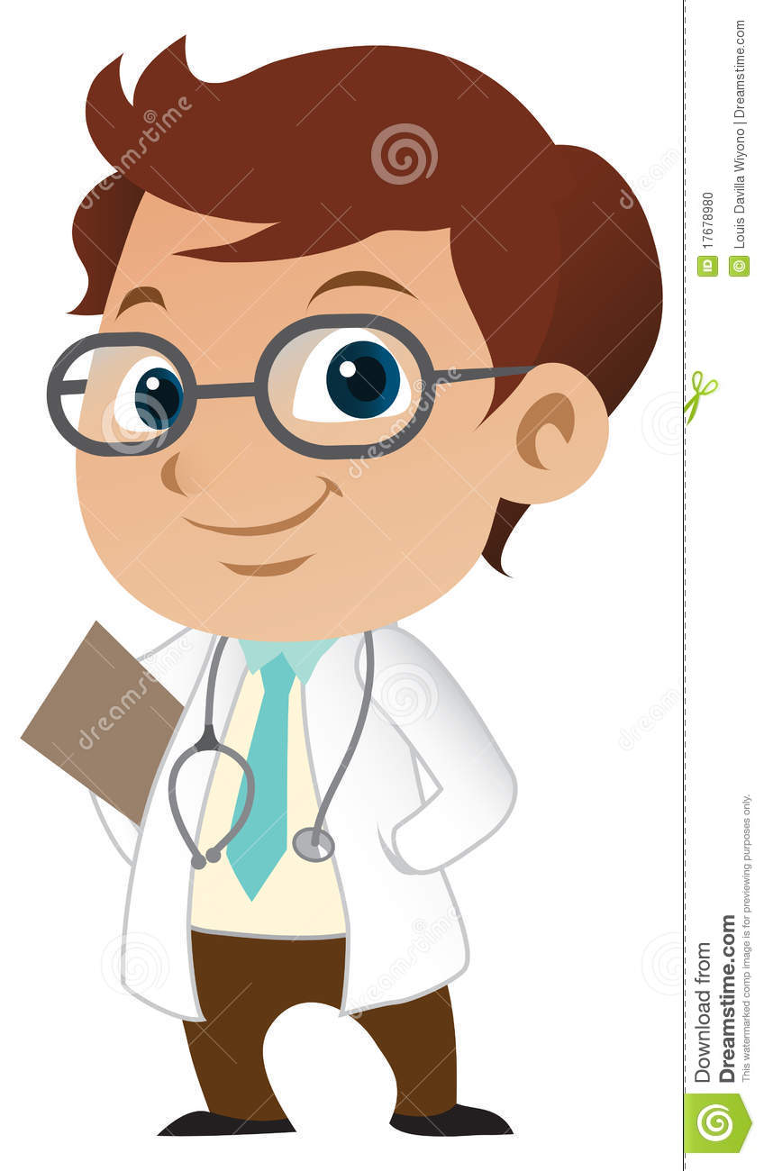Cute Little Male Doctor With A Stethoscope