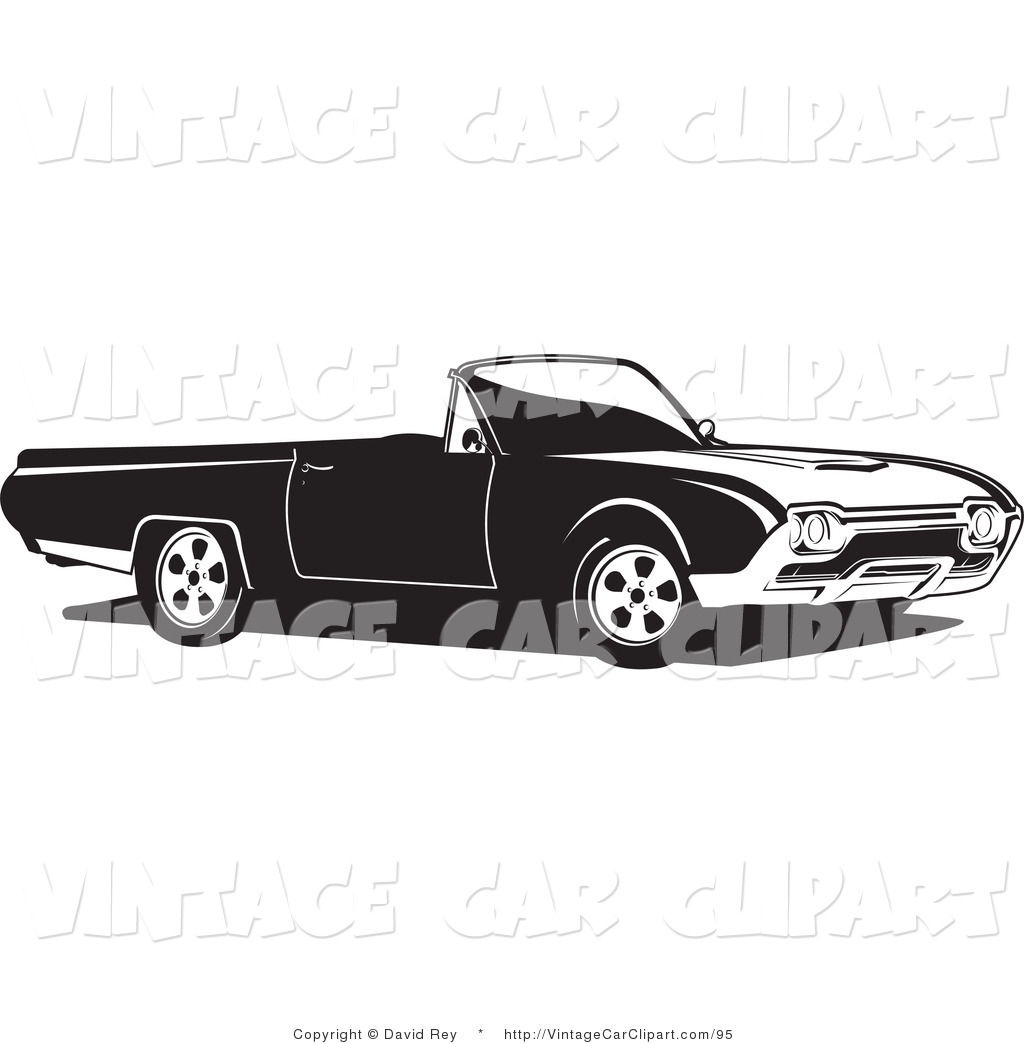 Black And White Ford: Ford Van Clipart Black And White Convertible Ford