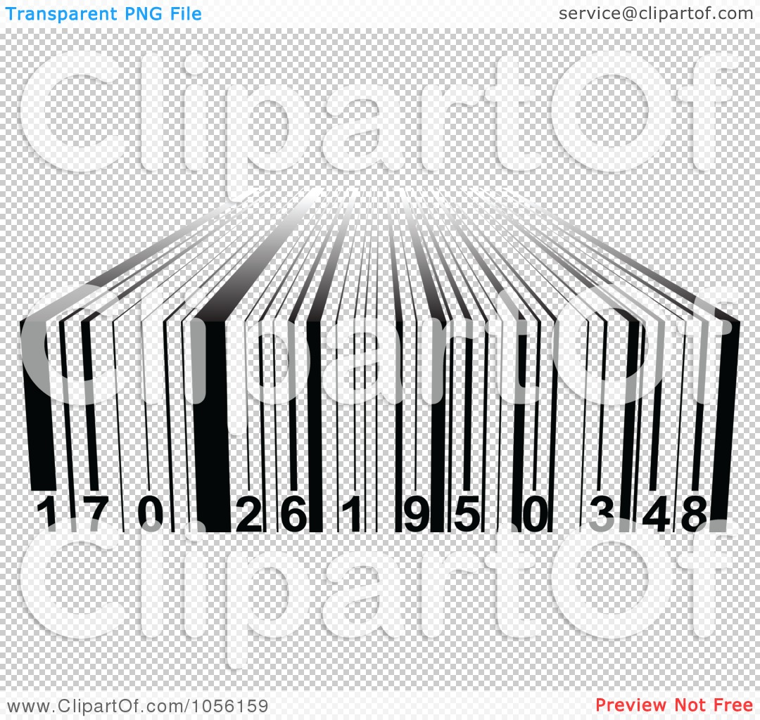 Free Vector Clip Art Illustration Of A Black And White 3d Bar Code
