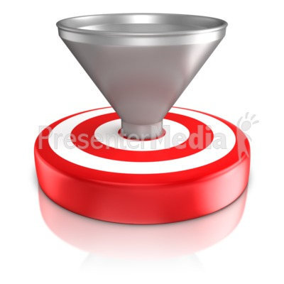 Funnel On Bullseye   Business And Finance   Great Clipart For