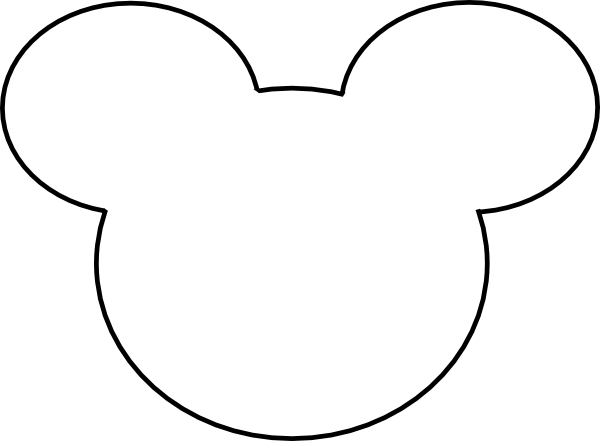 Mickey Mouse Outline Clip Art At Clker Com   Vector Clip Art Online