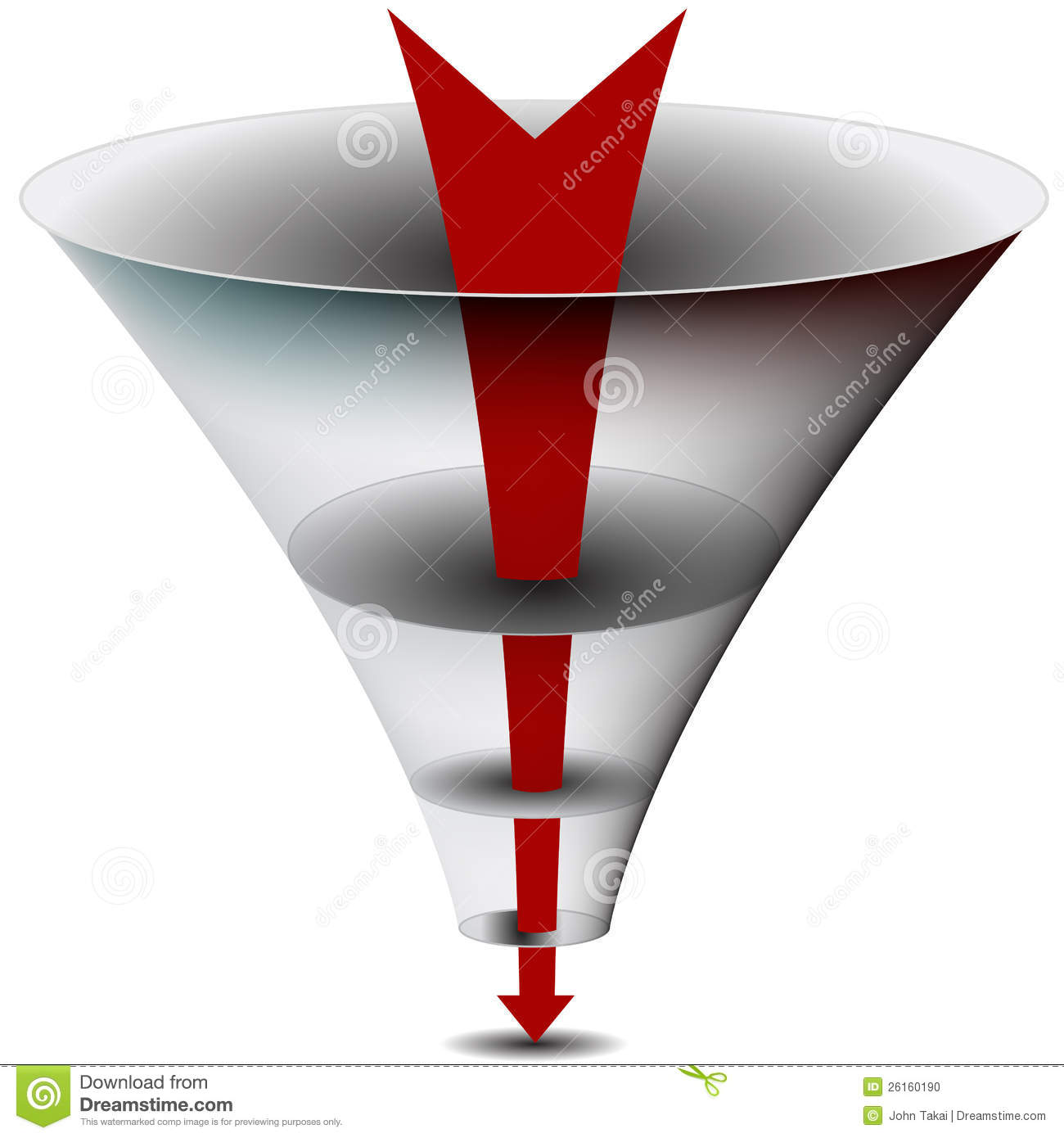 More Similar Stock Images Of   Arrow Chamber Funnel Chart