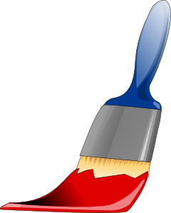 Paint Brush Clip Art At Clker Com   Vector Clip Art Online Royalty
