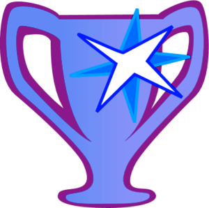 Prize Cup Trophy Victory Medallion Stars   Vector Clip Art