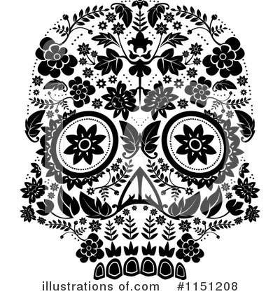Royalty Free  Rf  Day Of The Dead Clipart Illustration  1151208 By