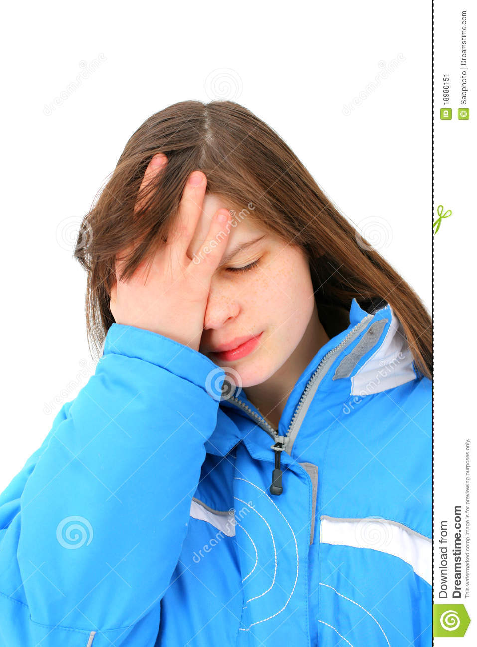 Sad Teenage Girl Stock Image   Image  18980151