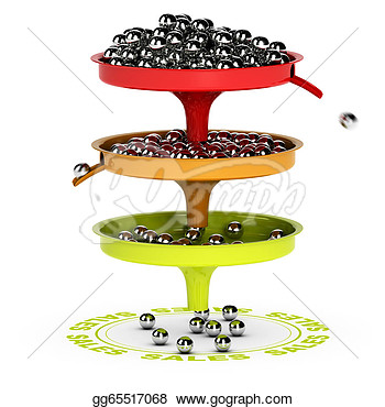 Sales Funnel Ecommerce Conversion Rate  Stock Clipart Gg65517068