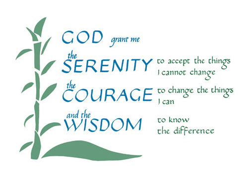 Serenity Prayer God Grant Me The Serenity To Accept The Things I