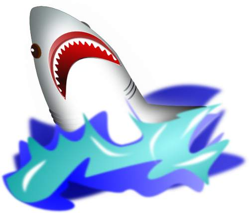 Shark With Mouth Open Clip Art   Clipart Panda   Free Clipart Images