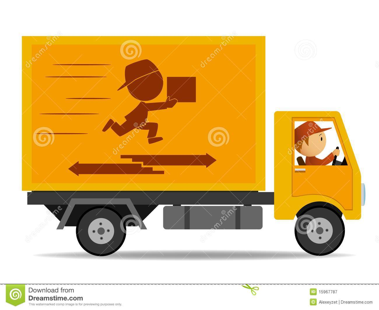 Delivery Driver Clipart - Clipart Kid