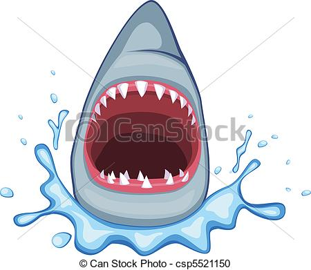 Vector Clipart Of Shark Vector   Shark Open Its Mouth Vector