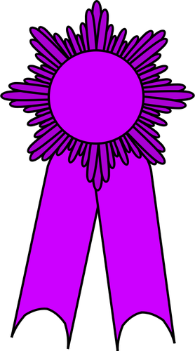 Vector Graphics Of Gold Medal With A Purple Ribbon   Public Domain