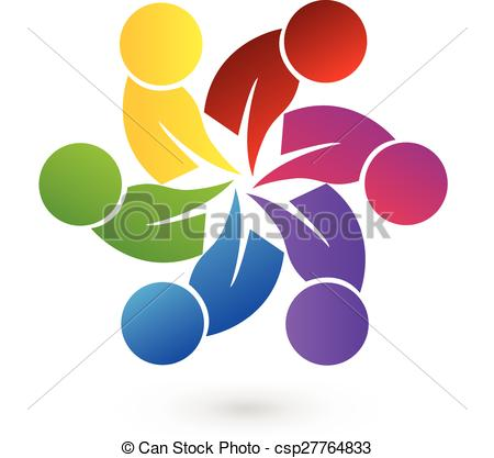 Vectors Of Logo Teamwork People   Logo Concept Of Community Unity