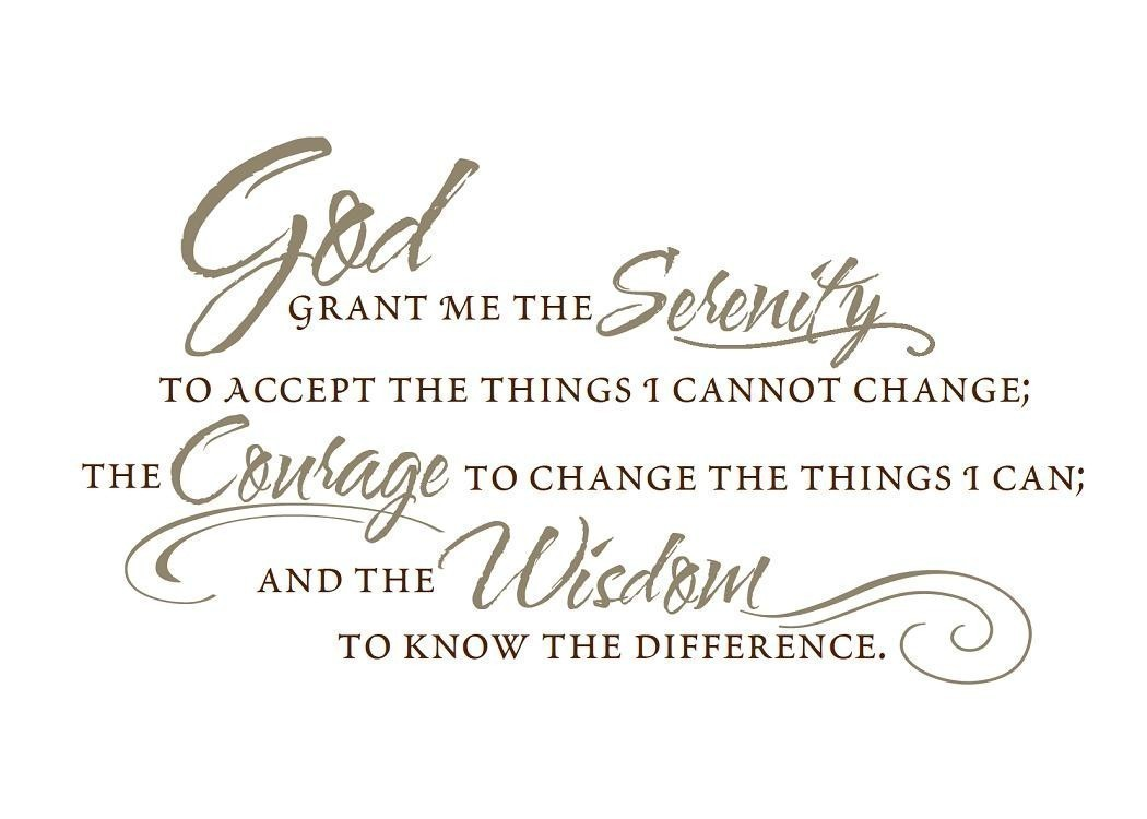 Vinyl Wall Decal The Serenity Prayer By Empressivedesigns On Etsy