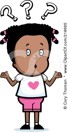218665 Royalty Free Rf Clipart Illustration Of A Confused Black Girl