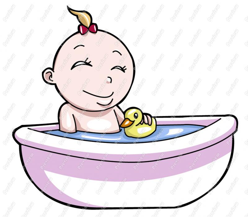 Baby Bath Clipart - Clipart Suggest