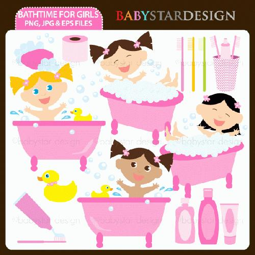 Bath Time Clipart My Grafico Bathtime Clipart