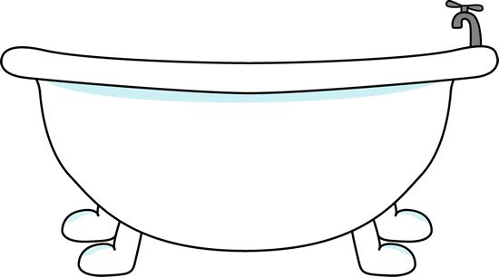 Bathtub Clipart   Bathtub Clip Art Image   Large With Bathtub With A