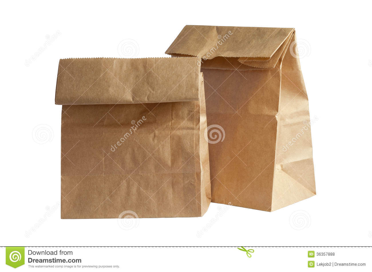 Brown Bag Lunch Clipart Two Brown Paper Bag Lunch With
