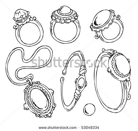 Cartoon Jewelry Clip Art   Stock Vector