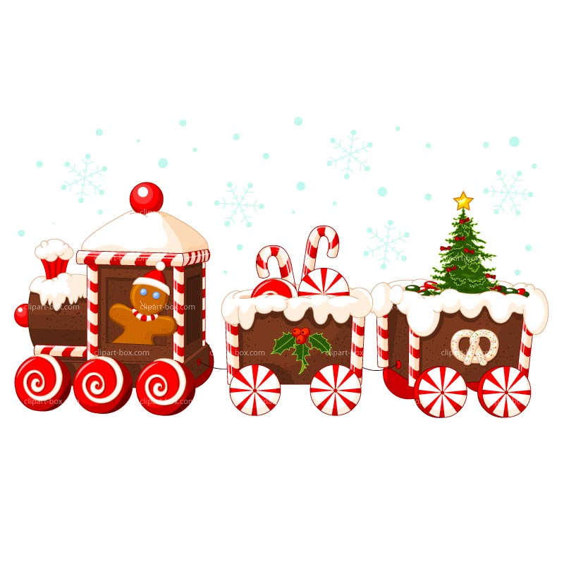 Christmas Party Food Clip Art Clipart Candy Train