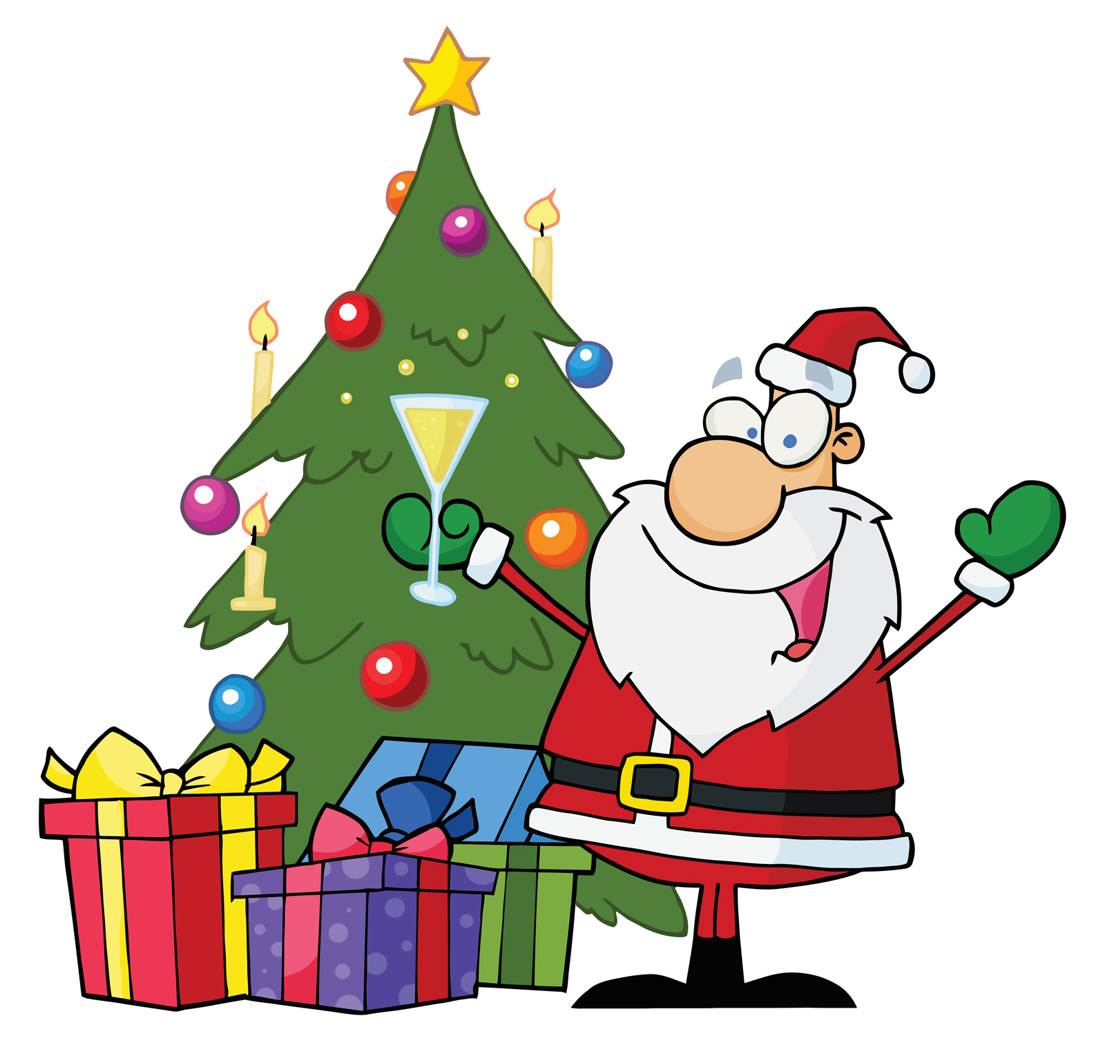 Crazy Santa Clipart - Clipart Kid
