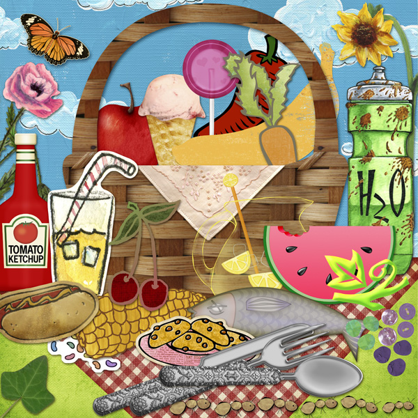 Clipart Picnic Words Fill Game Free Printable Summer Fun   Picnic Food