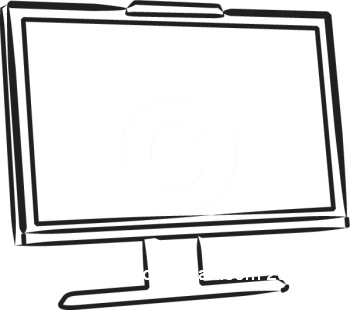 Computer Screen Clipart Black And White   Clipart Panda   Free Clipart